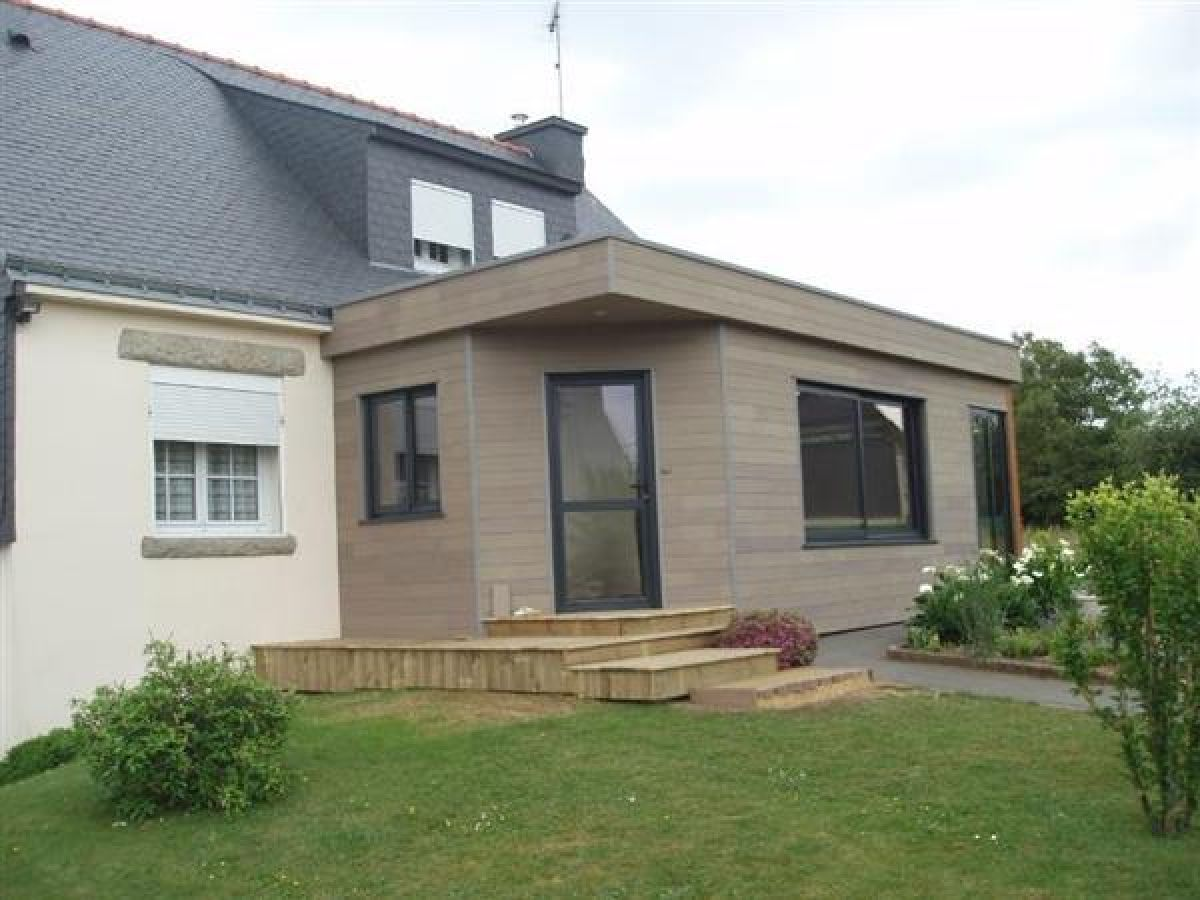 Extension maison toit plat trendy extension veranda toit for Extension de maison